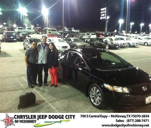 Thank you to Aileen Hayes on your new 2009 #Honda #Civic Cpe from George Rutledge and everyone at Dodge City of McKinney! by Dodge City McKinney Texas
