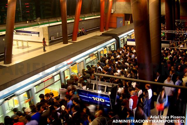 Metro de Santiago - Alstom NS93 N2057 - Vicente Valdés (L5)