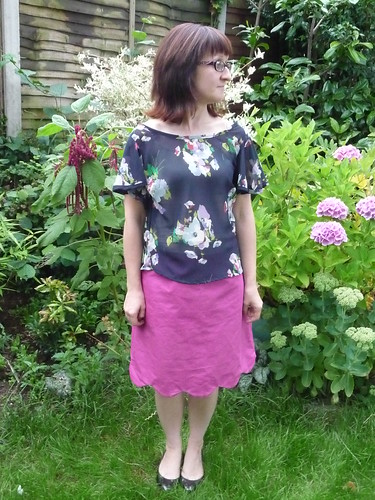 Handmade Colette Patterns Meringue Skirt and Taffy Blouse