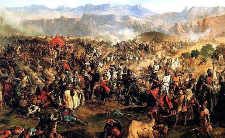 13. La Batalla de las Navas de Tolosa. Pintura al óleo de Francisco de Paula Van Halen, (1814-1887)