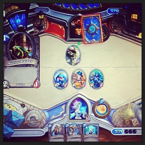 Playing Hearthstone beta with my bro #hearthstone