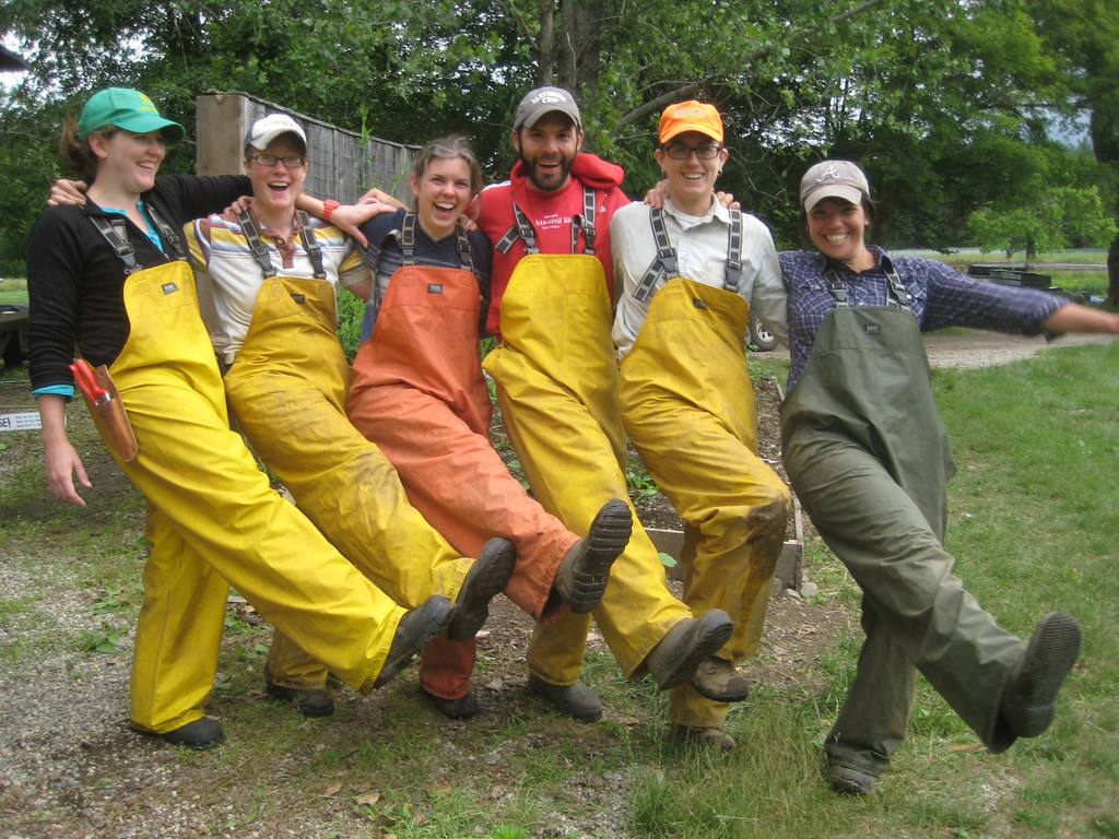 Farmer Melanie and her crew