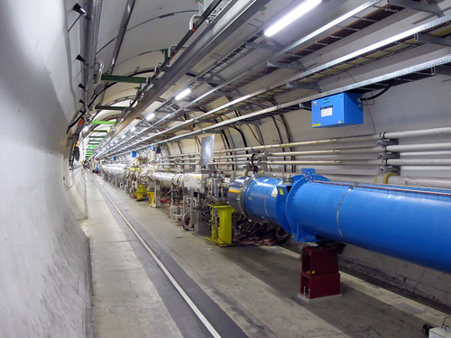 Totally fabulous & excited to be in the particle accelerator tube tunnel, in the LHC ring at CERN!