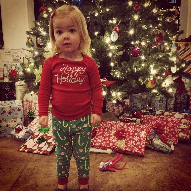 So excited for the 'jama party at school today. #latergram #ilovechristmas
