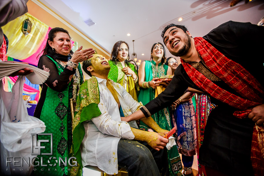 Ismaili groom and guests during Pithi ceremony