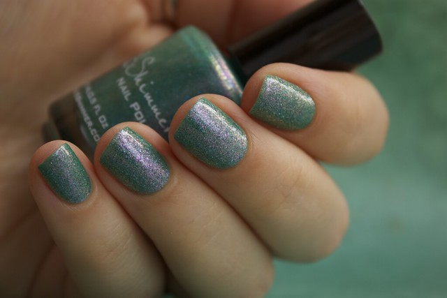 12 KBShimmer Teal Another Tail with 2 coats Eva Mosaic topcoat