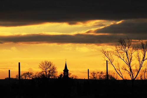 sunset over St Bartholomew's chapel, Bukol.