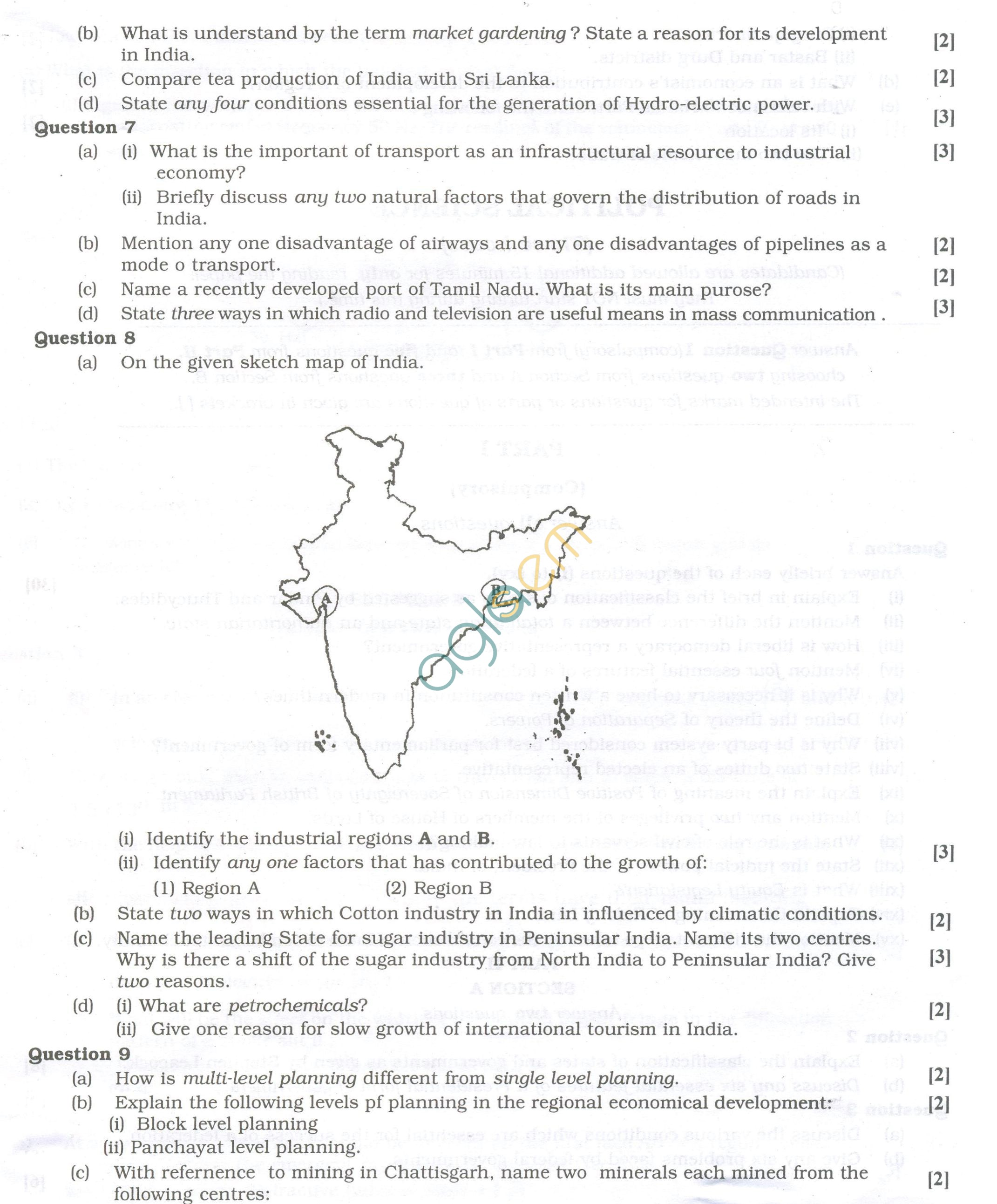Isc Question Papers For Class 12