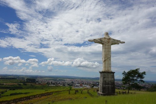 Statue of Christ in city of Patrocinio, Brasil