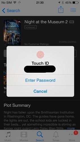 Touch ID ใช้ยืนยันตัวตนเพื่อซื้อของใน App Store หรือ iTunes Store ได้เลย