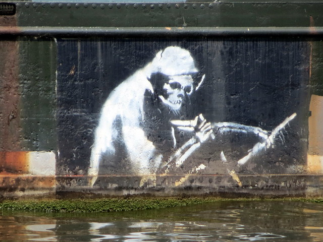 Banksy - The Grim Reaper, Thekla (Bristol)