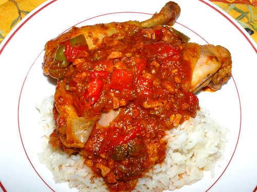 Chicken basquaise with rice by La belle dame sans souci