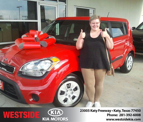 Thank you to Amanda Lafrenias on your new car  from Gil Guzman and everyone at Westside Kia! by Westside KIA
