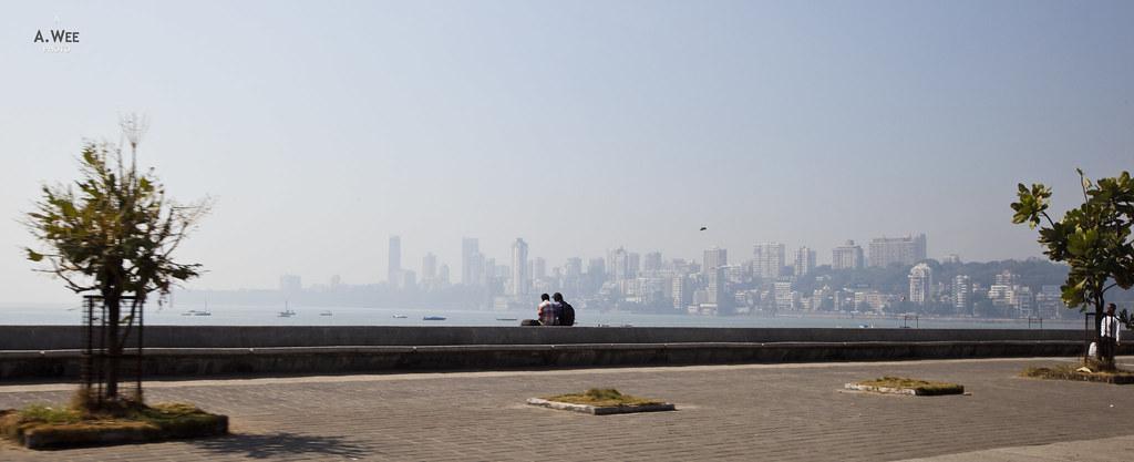 Promenade with a view of Mumbai's Skyline
