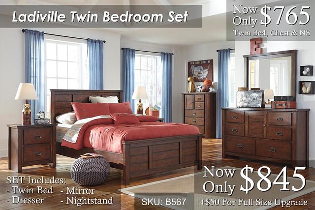 Ladiville Twin Bedroom Set