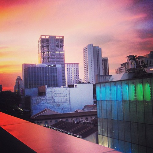 #sunset from Orchard Central #singapore by @MySoDotCom