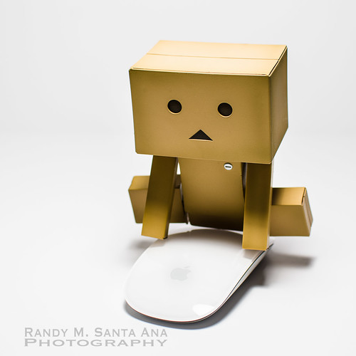 Danbo Rides Magic Mouse.