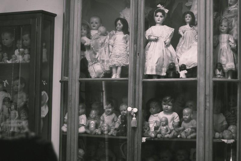dolls cabinet bw