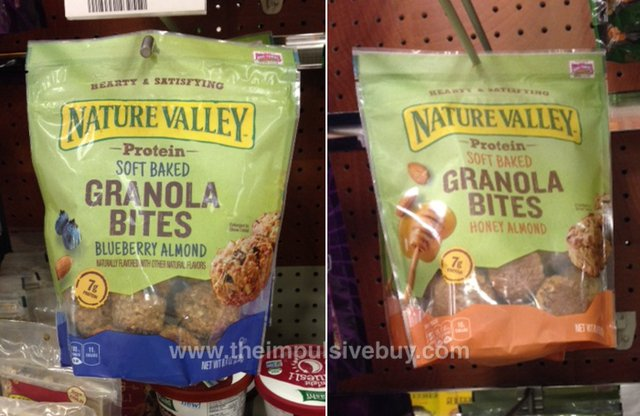 Nature Valled Protein Soft Baked Granola Bites (Blueberry Almond and Honey Almond)