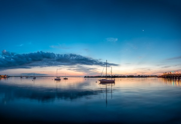 A calm morning in the St. Augustine harbor.