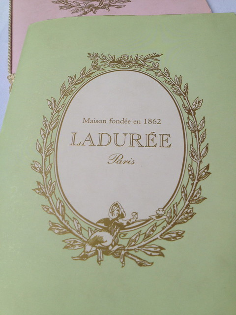 Laduree menus