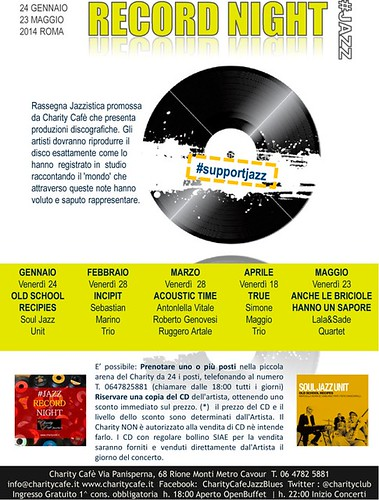 RECORD NIGHT #JAZZ | Charity Cafè by cristiana.piraino