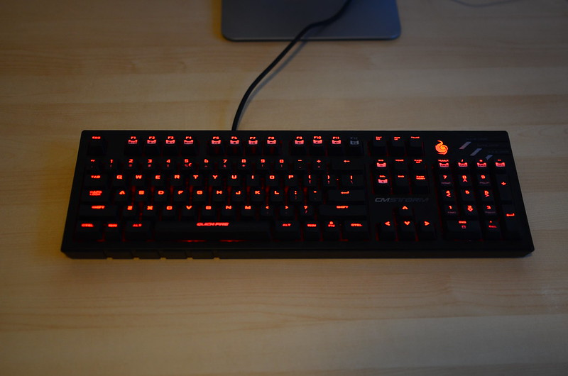 Cooler Master QuickFire Ultimate, backlight on