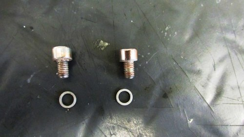 Fork Drain Bolts with New Washers