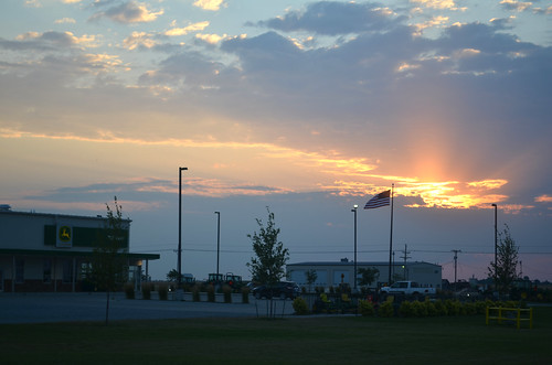 A beautiful fourth of July sunrise at the Pratt John Deere