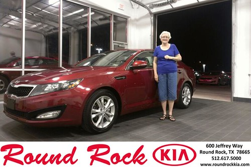 Thank you to Nancy Moering  on the 2013 Kia Optima from Kevin Rodriguez and everyone at Round Rock Kia! by RoundRockKia
