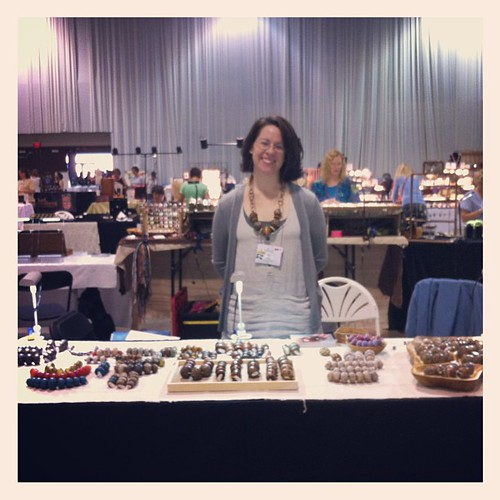 My table @ the bead bazaar for the 2013 Rochester Gathering. by wandering spirit designs