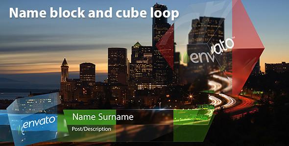 Name block and cube loop