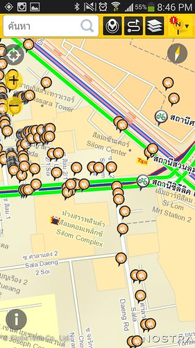ใส่ชั้นข้อมูล NOSTRA Map, สถานีปันปั่น และ Wongnai เข้าไป