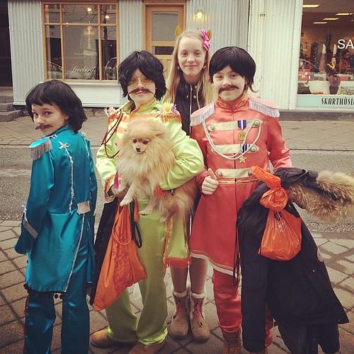 The Beatles. The dog is Ringo. #öskudagur