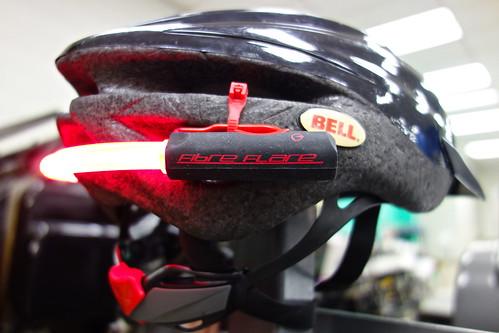 Helmet-mounted Fibre Flare