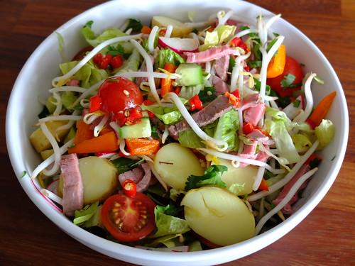 Thai-influenced salad by La belle dame sans souci