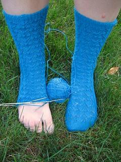 Blue Squiddy Socks