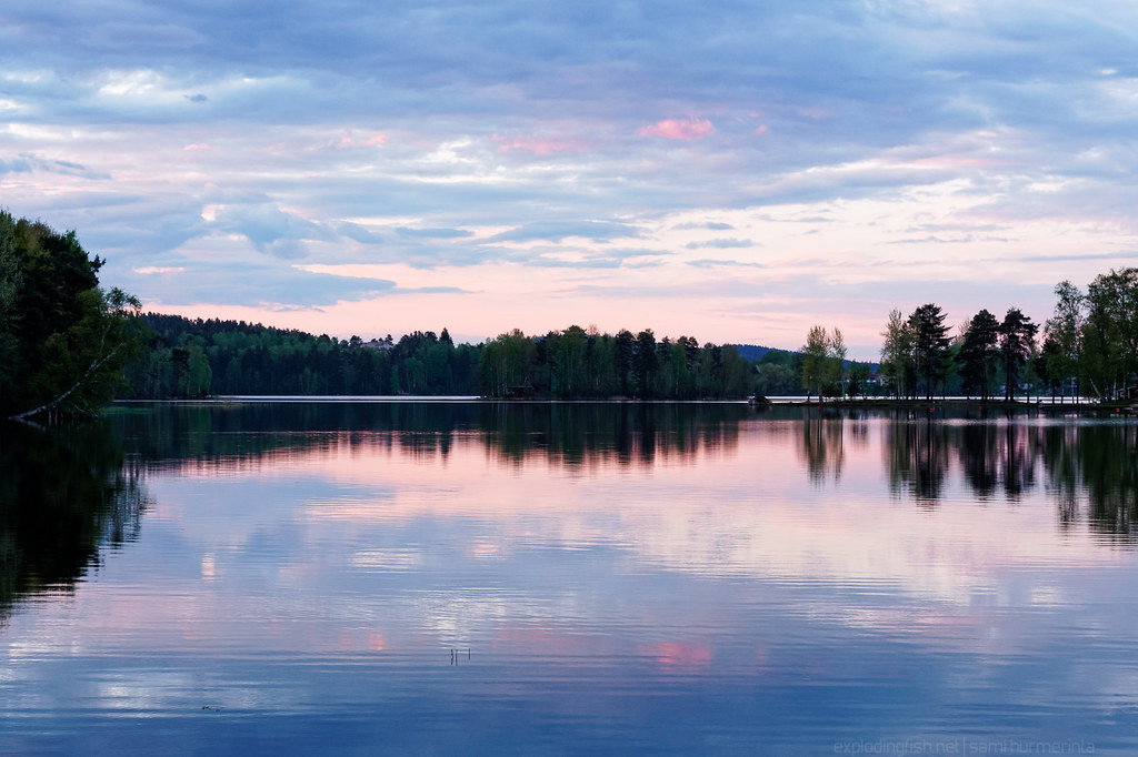 Summer evening at Lake Tuomiojärvi