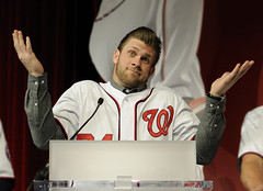 Bryce Harper up in arms meme