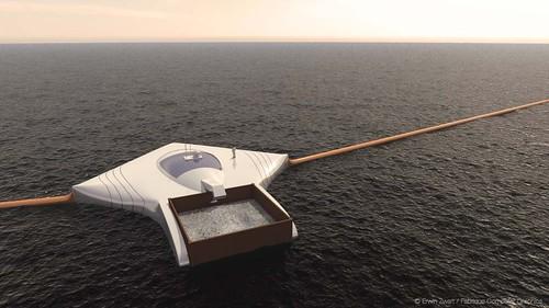 司拉特所構想的海洋吸塵器