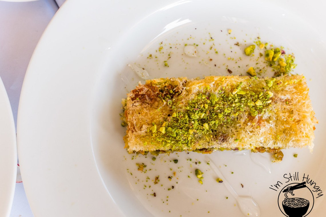 Kadaifi pastry with pistachio & golden syrup flanagan's dining room