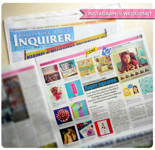 Me and my Instagram account on the Philippine Daily Inquirer