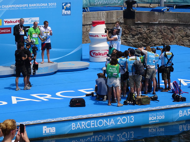 BCN2013 Men's 25K Medal Podium