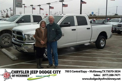 Thank you to Janie Thomas on your new truck from Bobby Crosby and everyone at Dodge City of McKinney! #Awesome by Dodge City McKinney Texas