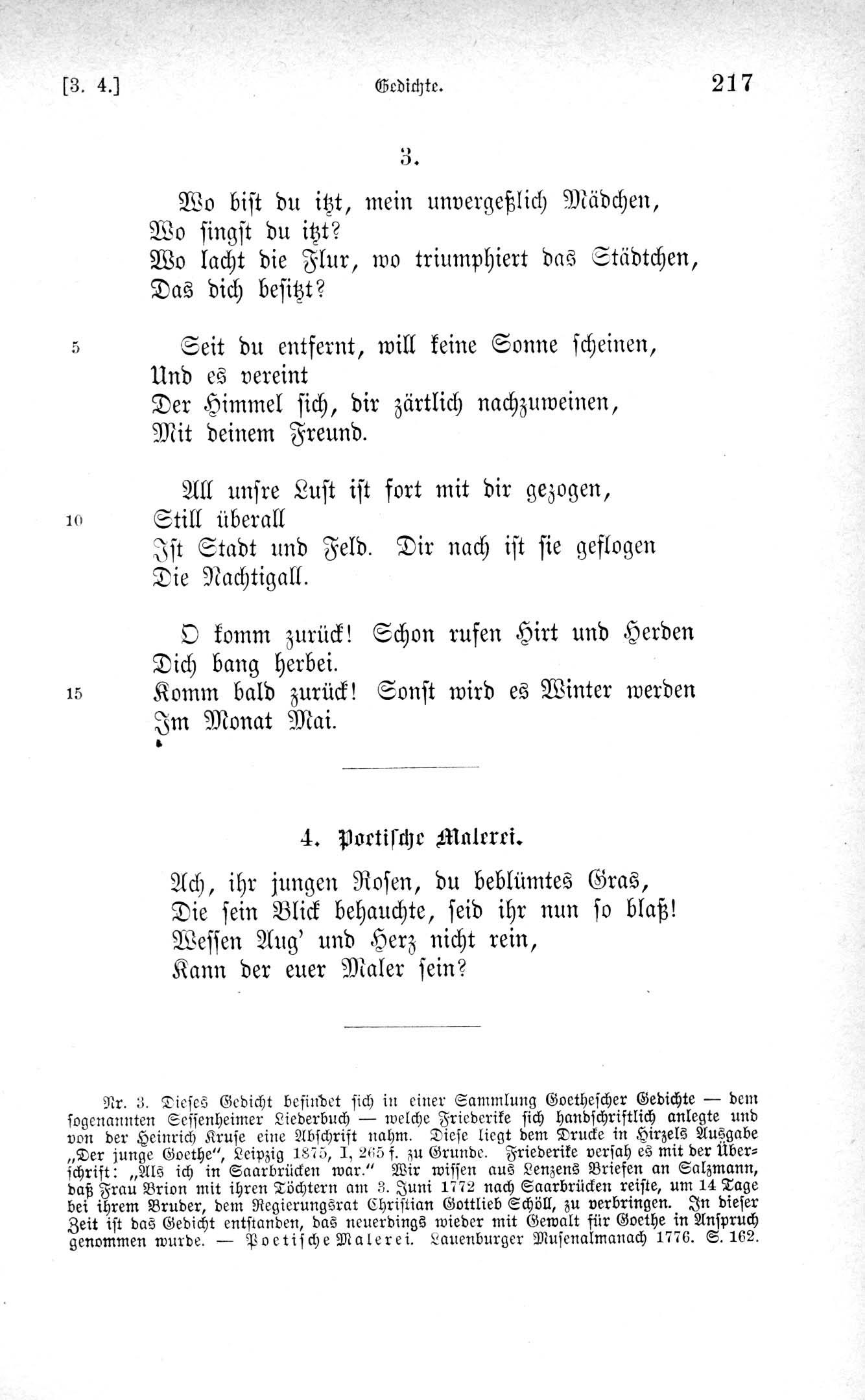 August Sauer, Hg., Stürmer und Dränger, 1883, Seite 217, Digitalisat der Forschungsstelle J.M.R. Lenz an der Universität Mannheim