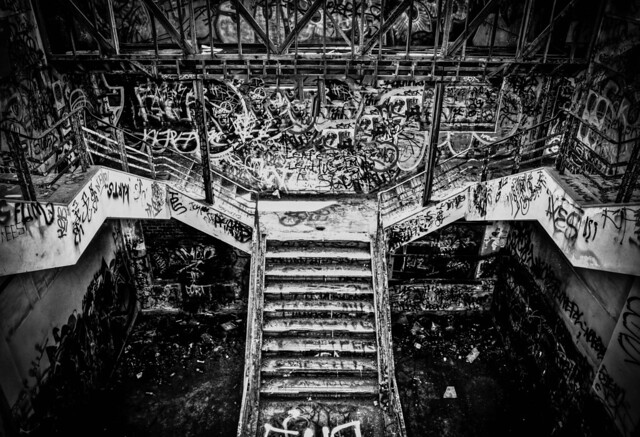 Grand Staircase in an abandoned power station