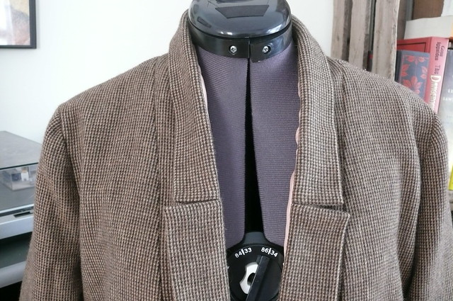 Victoria Blazer in Houndstooth Wool by Ginger Makes