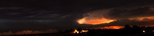 071710 - Kearney Nebraska Crusie Nite...Classic Car Show Storm... (Pano)