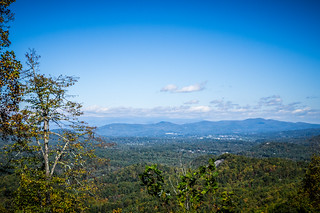 Hendersonville from Pinnacle Mountain