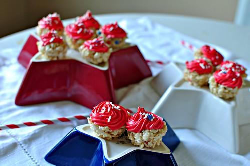 4th of July Rice Krispie Cupcakes 1